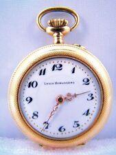 """Damen Taschenuhr 14K 585 Gold Lady Pocket Watch """"Union Horlogere"""" um 1900"""