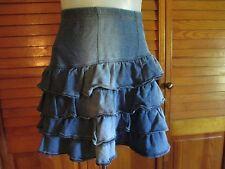 H&M Cotton / spandex blend blue stretch tired skirt sz M