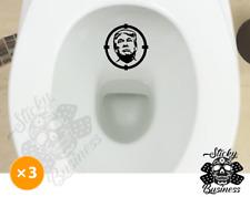 Donald Trump Inodoro Orinal Conjunto de 3 ayuda a la formación de destino Vinilo Sticker Baño Fly