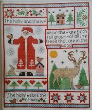 'Christmas Sampler Santa Holly Deer' Cross Stitch Chart By Helen Philipps (X74)