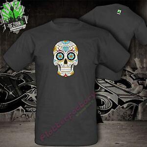 T-Shirt La Catrina Mexikanischer Zuckerschädel Skull Tattoo Totenkopf Motiv 4