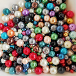 20g 4-10mm Mixed Color Czech Glass Pearl Spacer Loose Beads DIY Craft