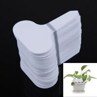 100 Pcs T-type Plastic Plant Pots Label Nursery Garden Thick Tag Flower Markers