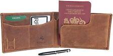 """Visconti in pelle petrolio TAN RFID Protezione passaporto Travel Wallet 726 - """"JET"""""""