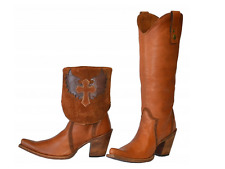 Corral Vintage Boots Tan-Brown Wing Cross Convertible Boot C2213 sz 8 $249