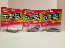 2004 Johnny Lightning CLASSIC PEZ LOT OF 3 Topper Wasp Topper Movin Van Mustang