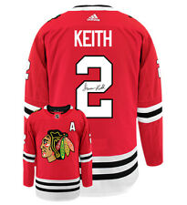 Duncan Keith Player Kitz Chicago Blackhawks Adidas Authentic Home Stitched Si...