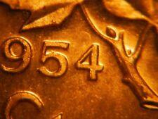 1954 Hanging 4 One Cent ***** Choice BU