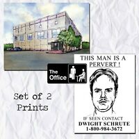 The Office Pam's Watercolor Painting Dwight K Schrute Pervert Flyer Gift Props
