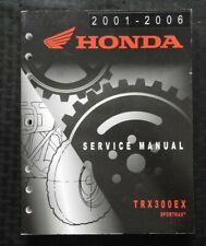 2001-2006 GENUINE HONDA 300 TRX300 TRX300EX SPORTRAX ATV SERVICE MANUAL NICE