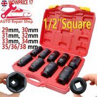 29-38mm Deep Impact Socket Set 1/2inch Sq Drive Metric Repair Grade 9PCS Tool UK