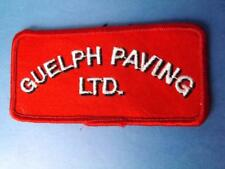 GUELPH PAVING PATCH VINTAGE UNIFORM EMPLOYEE ONTARIO COLLECTOR
