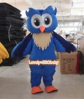 Christmas Big Blue Owl Mascot Costume Party Animal Unisex Fancy Dress Adult Suit