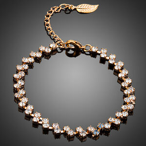 STUNNING ROSE GOLD PLATED BRACELET WITH C/Z 0031