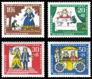 EBS Germany 1966 - Grimms' Fairy Tales (VIII) - Frog King - Michel 523-526 MNH**