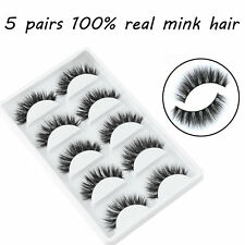 5 Pairs Set Mink Natural Thick False Fake Eyelashes Eye Lashes Makeup Extension
