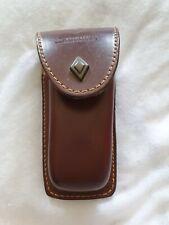Genuine Brown Leather Victorinox Switzerland  Swiss Knife Belt Pouch