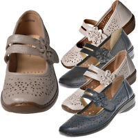 Womens Ladies Mary Jane Flats Grip Sole Padded Office Work Comfort Summer Shoes