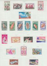WALLIS & FUTUNA 1960 MINT H/USED SC #154-74 DANCES SEASHELLS CAT $96.65