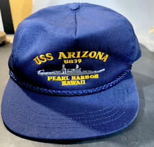 USS  Arizona BB39  Pearl Harbor Hawaii Navy  Hat