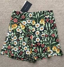 ZARA Floral SHORTS Size S 8 10 Black Multicoloured BNWT HIGH WAISTED