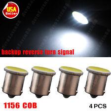 4X Pure White 1156 BA15S COB LED Light Backup Reverse Turn Signal 7503 1141 1073