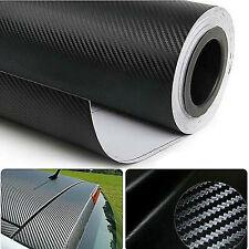 6 Rolls Black Carbon Fiber Vinyl Film Wrap 3d Bubble Air Release 1ftx5ft X6