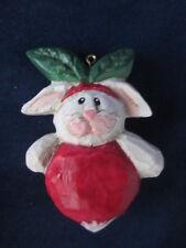 Eddie Walker Easter Bunny Rabbit Ornament Radish ~ Excellent