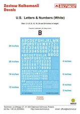 TECHMOD 1/48 Bianco USA LETTERE & Numeri #48820