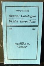 1902 Catalogue Useful Inventions Wiester & Co. San Francisco Pre Earthquake Map