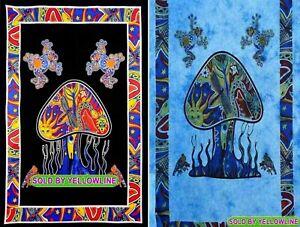 2 piece Mushroom Tapestry Bohomen Indian Wall Hanging Wholesale (77cmX102cm)BB-5