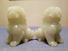 A Pair of very Beautiful Chinese Hand Carved Jade Foo Dogs