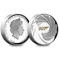 $1 Silber PP Tuvalu 2020 James Bond 007 : Box & COA
