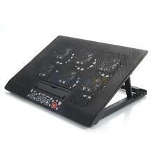 "LED 6 Fan Cooling Cooler Pad Adjust Stand for 12""-17"" Notebook Built-In USB Port"