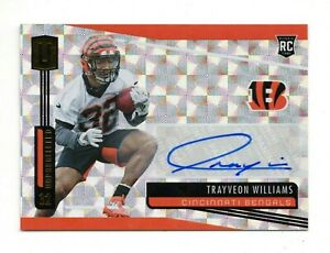 TRAYVEON WILLIAMS NFL 2019 UNPARALLELED ROOKIE AUTOGRAPHS HYPER /25 (BENGALS)