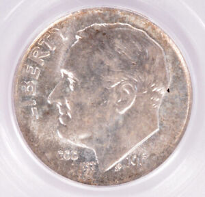PCGS 10c 1960 Roosevelt Dime 20% Rolled Thin MS63