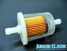 "Chevy Clear Inline Gas Fuel Filter 3/8"" 9mm 10mm Garden Equipment Tractor NOS"