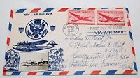 Vintage 1946 First Day Issue Cover New Air Mail Rate Real Photo Plane Bomber