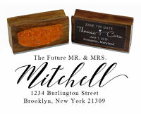 Printtoo Custom Wood Mount Future Rubber Stamp Address Personalized-m2V