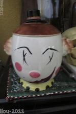 Vintage Japan Anthropomorphic Head Shaped Cookie Jar - Excellent Condition
