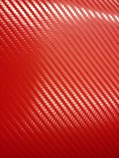 "Carbon Fiber Vinyl Wrap 3D RED 12"" x 60"" Order By The Foot Lowest Price"
