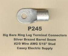 2 Bare Ring Lug Brazed Barrel Seam Terminal Connector 20 Wire 516 Stud Molex
