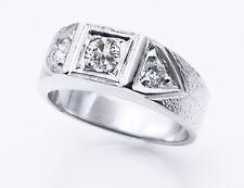 Stone Vs-Si Diamond Ring 14K White Gold $3345 Igi Cert Men's Antique 0.75ct 3
