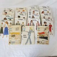 Lot of 19 Very Easy Very Vogue Misses Clothing Patterns Fashion Cut Used