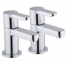 COOKE & LEWIS TAHOE CHROME HOT & COLD BATH PILLAR TAP, PACK OF 2 B&Q RRP £80