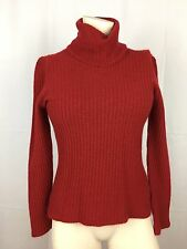 Richard Grand Red 100% Cashmere Sweater Small Turtleneck Cable Knit