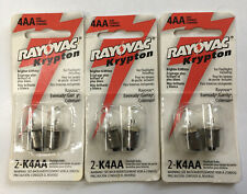 3 Packs - Rayovac Krypton K4AA 8 Bulbs - For Any 4AA Size Flashlight
