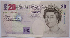 Great Britain / United Kingdom P-390a 20 pounds sign Lowther (1999-2003) used