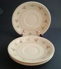 4 Vintage English Trellis Pattern Saucers Victorian JOHNSON BROTHERS England