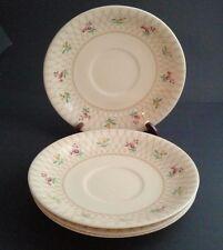 4 Saucers Victorian JOHNSON BROTHERS England - Old English Trellis Pattern -